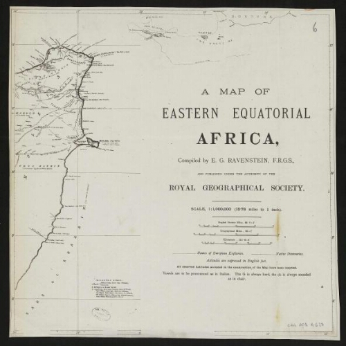 [Reproduction de] A map of eastern equatorial Africa