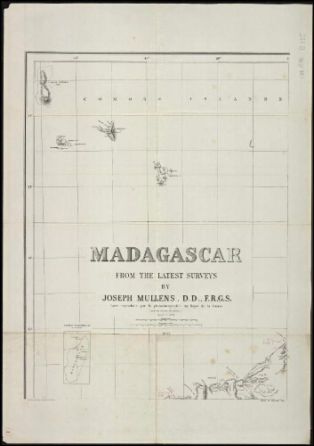 Madagascar from the latest surveys. [feuille 1]