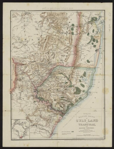 Wyld's military sketch of Zulu land the Transvaal and adjoining territories