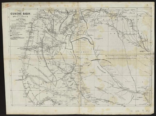 [Reproduction de] Sketch map of the Cunene basin and of the upper Okavango