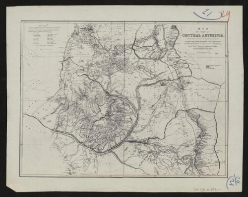 Map of part of Central Abyssinia…