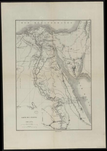 Carte de l'Egypte